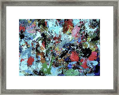 Framed Print featuring the painting Untitled by Melinda Saminski