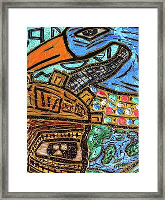 Untitled Olmec And Tehuti Framed Print