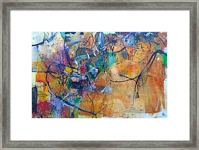 Untitled Or Ink Flow Framed Print