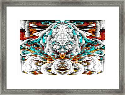 Framed Print featuring the digital art 992.042212mirrorornategoldvert-2-c by Kris Haas