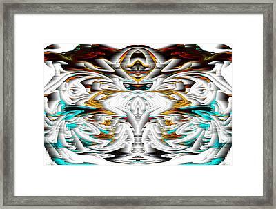 Framed Print featuring the digital art Untitled Series 992.042212 by Kris Haas