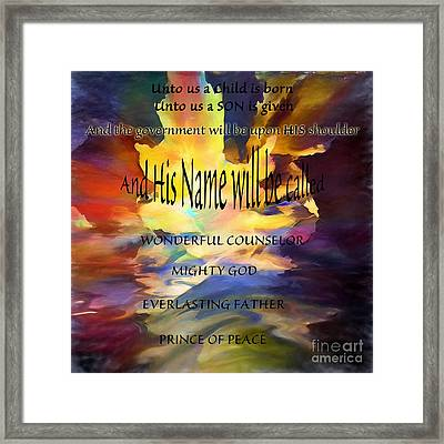 Unto Us Framed Print