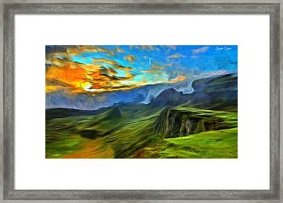 Untouched Mountains - Da Framed Print by Leonardo Digenio