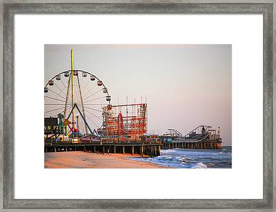 Funtown And Casino Amusement Pier In Seaside Park And Seaside Heights Nj Framed Print