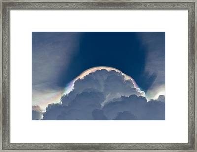 Unusual Cloud Formation Framed Print