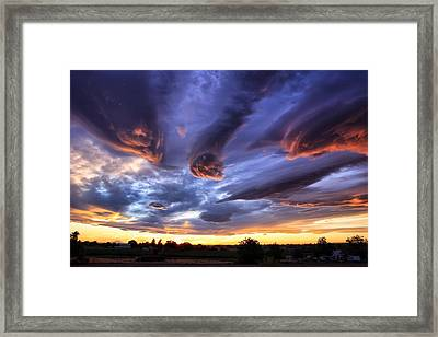 Alien Cloud Formations Framed Print by Lynn Hopwood