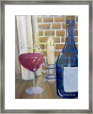 Framed Print featuring the painting Unwind by Saundra Johnson