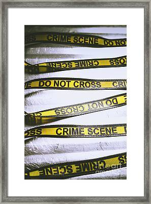 Unwrapping A Murder Investigation Framed Print