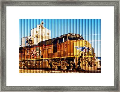 Up 5915 At Track Speed Framed Print