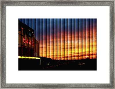 Up 6445 Sunset - The Slat Collection Framed Print
