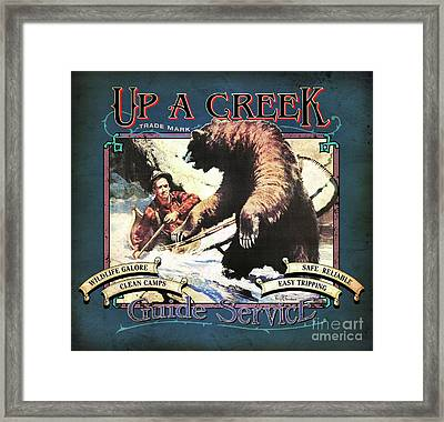 Up A Creek 1 Framed Print by JQ Licensing