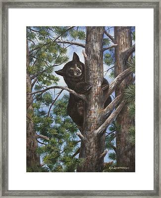 Framed Print featuring the painting Up A Tree by Kim Lockman