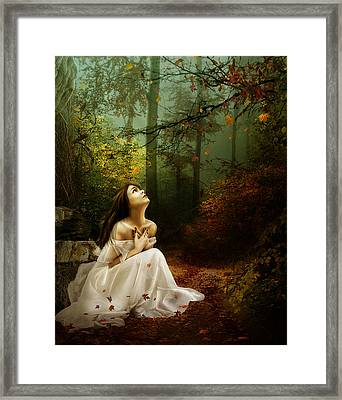 Up Above Where Non Can See Framed Print by Mary Hood