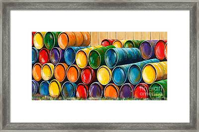 Up Against The Wall Framed Print by Hugh Harris