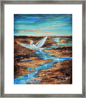 Framed Print featuring the painting Up And Away by Linda Olsen