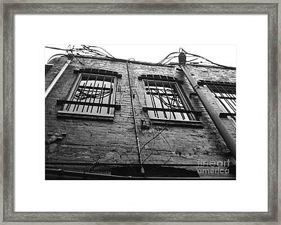 Up And Barred Framed Print by Jack Norton