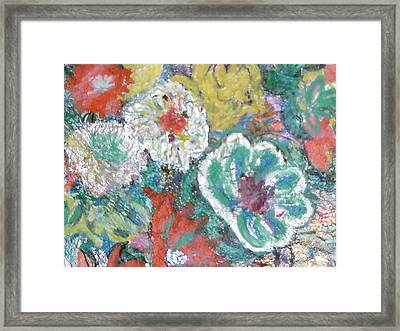 Up And Taking Nourishment Framed Print by Anne-Elizabeth Whiteway