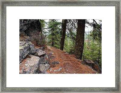 Framed Print featuring the photograph Up Around The Bend... by Ben Upham III