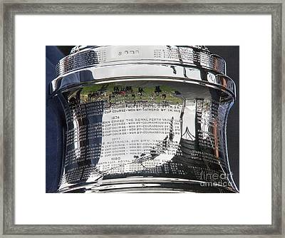 Up Close America's Cup Framed Print
