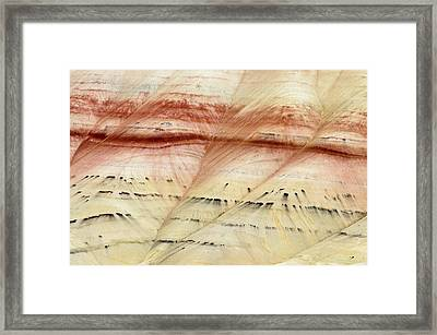 Framed Print featuring the photograph Up Close Painted Hills by Greg Nyquist