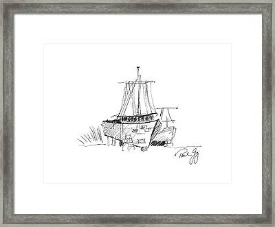 Up For Repairs In Pointe A La Hache Louisiana Framed Print by Paul Gaj