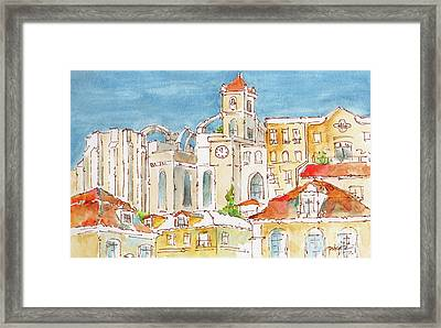 Up From Rossio Square Framed Print by Pat Katz