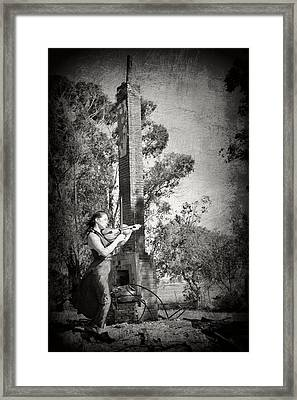 Up From The Ashes Girl With Violin Framed Print by Pamela Patch