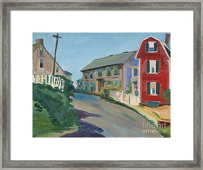 Up From The Harbor  Framed Print by Jeri Borst