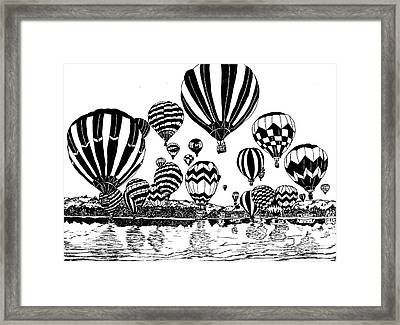 Up In The Air Framed Print by Vicki  Housel