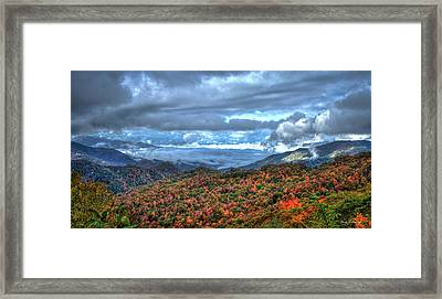 Up In The Clouds Blue Ridge Parkway Mountain Art Framed Print