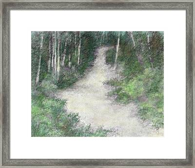 Up Into The Woods Colorized Framed Print by David King