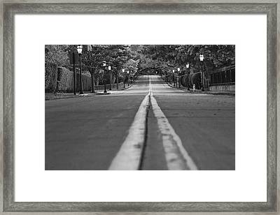 Up Mansion Row Framed Print