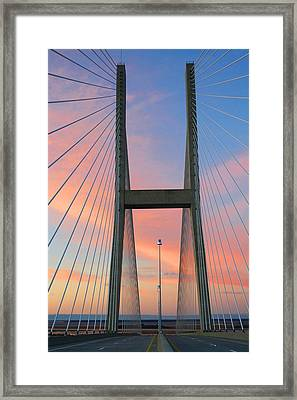 Up On The Bridge Framed Print