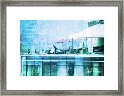 Up On The Roof - II Framed Print by Mary Machare