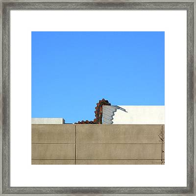 Up On The Roof Framed Print by Lin Haring