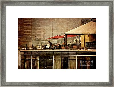 Up On The Roof - Miraflores Peru Framed Print