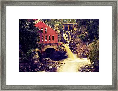 Up River At The Old Mill Framed Print by Carol Hathaway