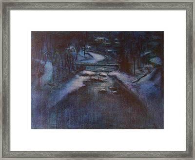 Up River Framed Print