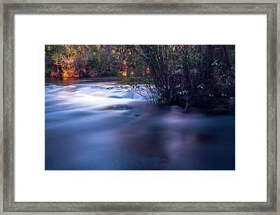Up Stream Framed Print