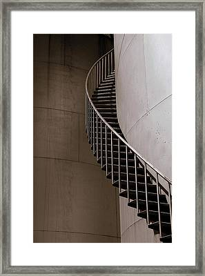 Framed Print featuring the photograph Up The Down Stairs by Irma BACKELANT GALLERIES