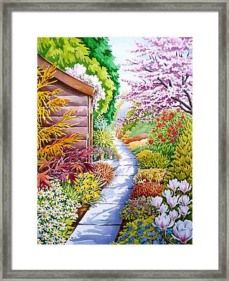 Up The Garden Path Framed Print