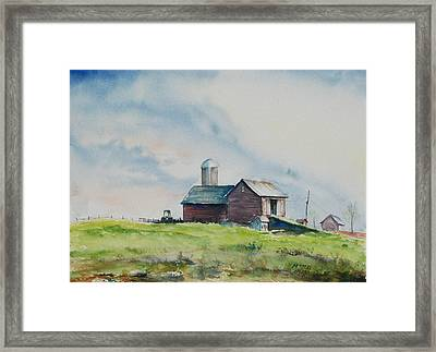 Up The Hill Framed Print by Mike Yazel