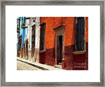 Up The Hill Framed Print by Mexicolors Art Photography