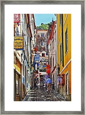 Up The Hill - Sintra Portugal Framed Print by Mary Machare