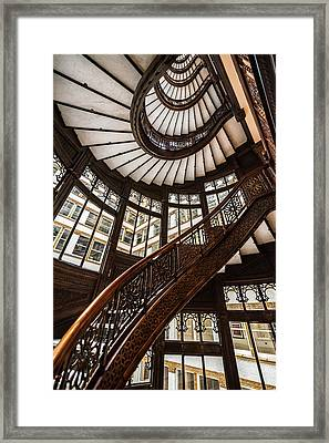 Up The Iconic Rookery Building Staircase Framed Print
