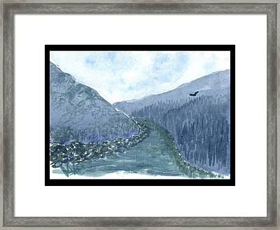 Up The River Framed Print