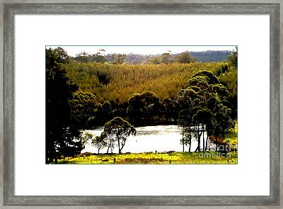 Up The Road Framed Print by James  Dierker
