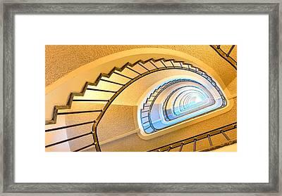 Up The Stairs Framed Print by Carlo Van Stek