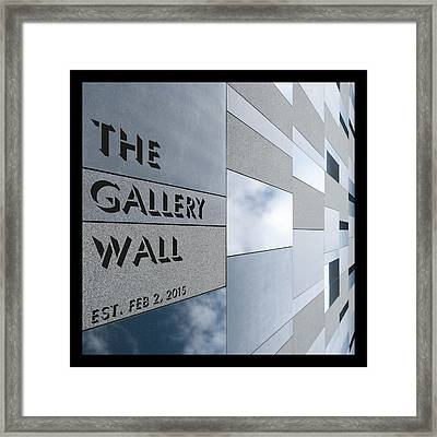 Framed Print featuring the photograph Up The Wall-the Gallery Wall Logo by Wendy Wilton