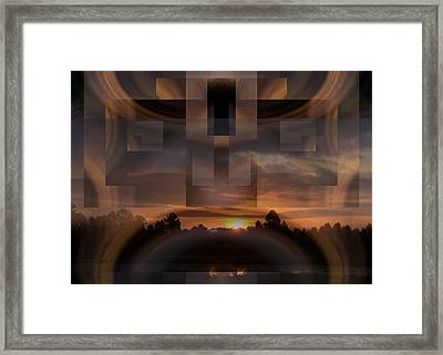Up There In The Sky At Dawn Framed Print by rd Erickson